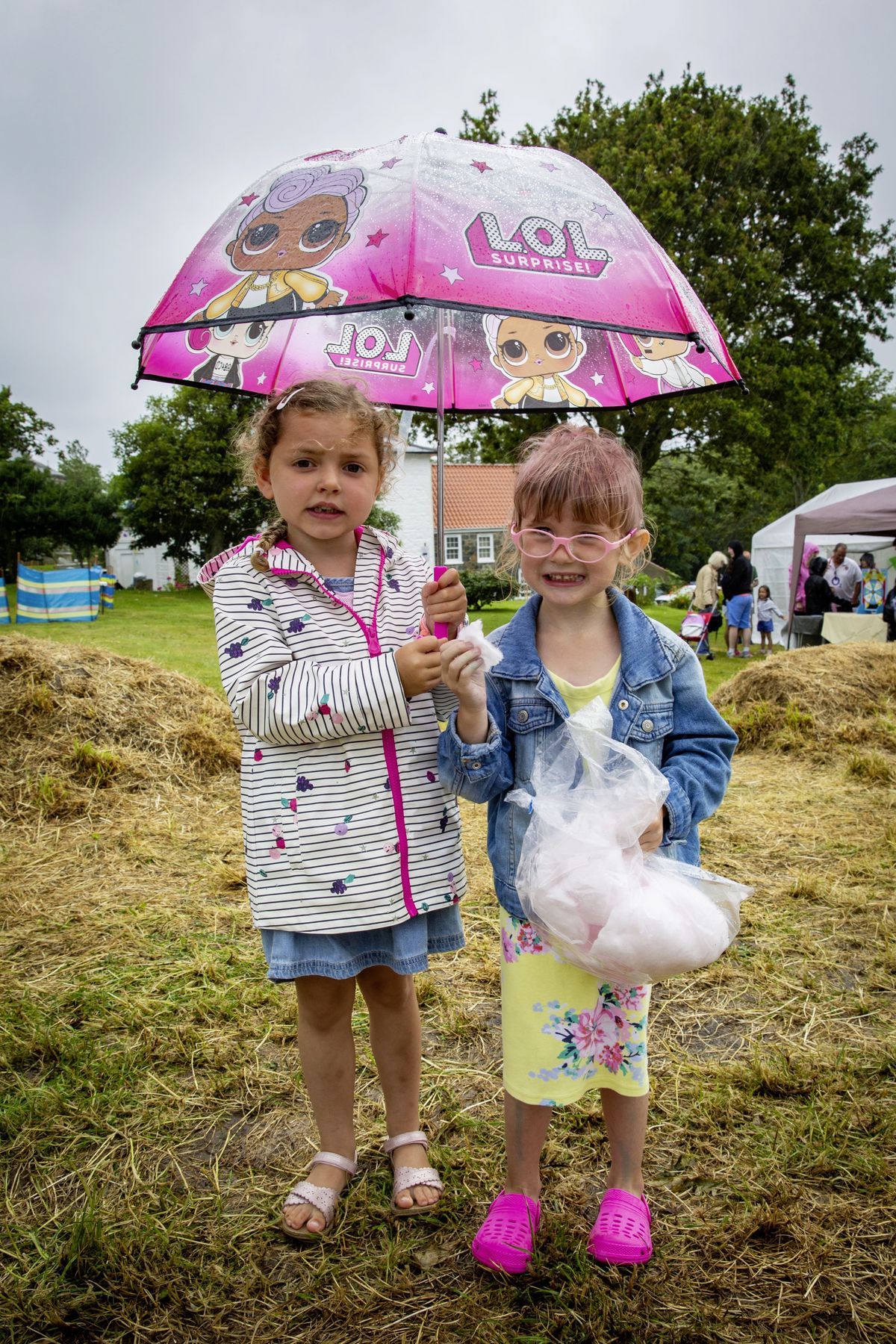 Sophia Savident and Everlyn Watson, both aged 4. (Picture By Sophie Rabey, 29797266)