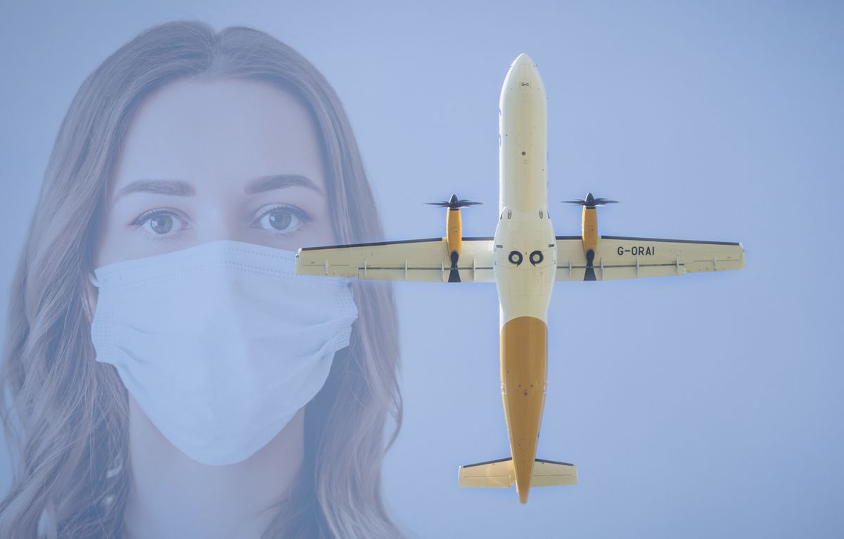 Travellers currently still need to wear face masks on all Aurigny flights. (28428951)