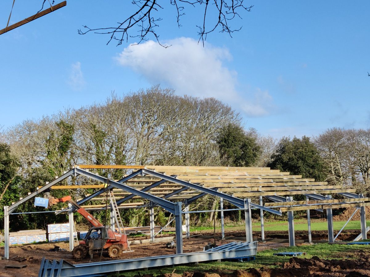 The construction of the new Sark Dairy is underway, thanks to funds raised by the Sark Dairy Trust. Image shared by Sark Community Dairy Twitter. (29102880)