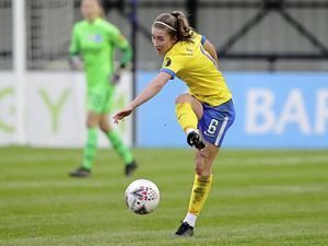Maya Le Tissier in action for Brighton & Hove Albion away to Birmingham City in the Barclays FA Women's Super League, 17-01-21. The game ended in a goalless draw..Picture by Paul Hazlewood / BHAFC. (29124174)