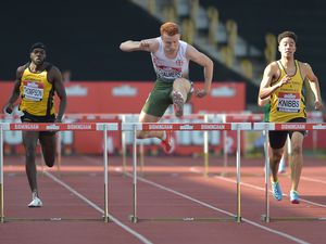 Alastair Chalmers competing at the more usual distance of 400m hurdles last summer at the British Athletics Championships. (Picture by B&O Press Photo, 28423134)
