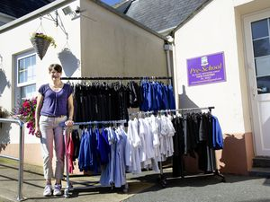 Picture By Cassidy Jones. 15-07-21 Alison Hamer, she is selling pre-loved school uniforms for the fraction of the price.. (29767537)