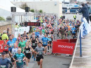 Pic by Adrian Miller 25-10-20 Guernsey Marathon 2020. (29250175)