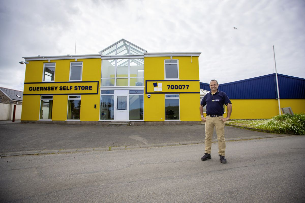 Nicholas Blakely, managing director of Guernsey Self Store, at its new building in the Forest, formerly occupied by window manufacturer Bredoyle. (Picture by Peter Frankland, 29509393)
