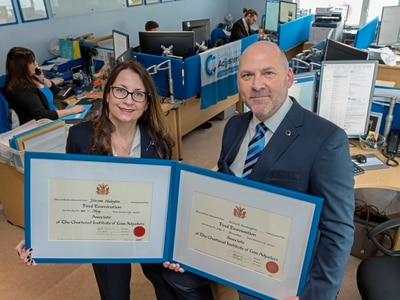 Husband and wife's chartered status a world first