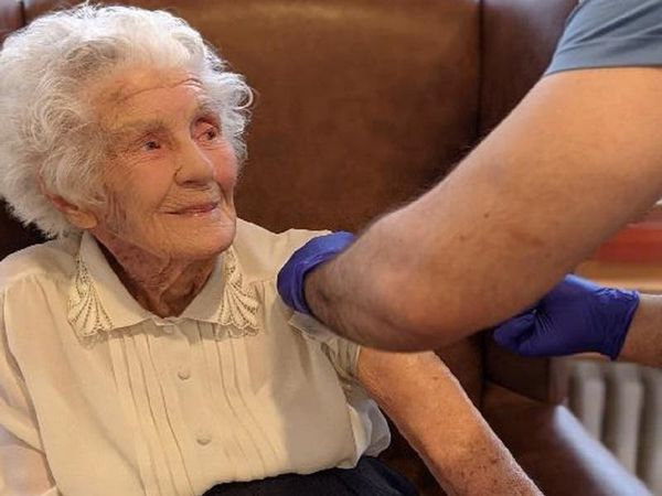 104-year-old who raised £50,000-plus for charity receives coronavirus vaccine