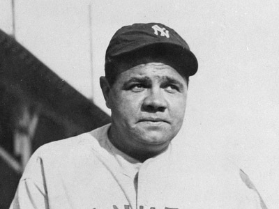 Babe Ruth's baseball bat sold for one million dollars at auction
