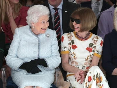 Anna Wintour keeping sunglasses on for Queen 'unacceptable', says royal expert