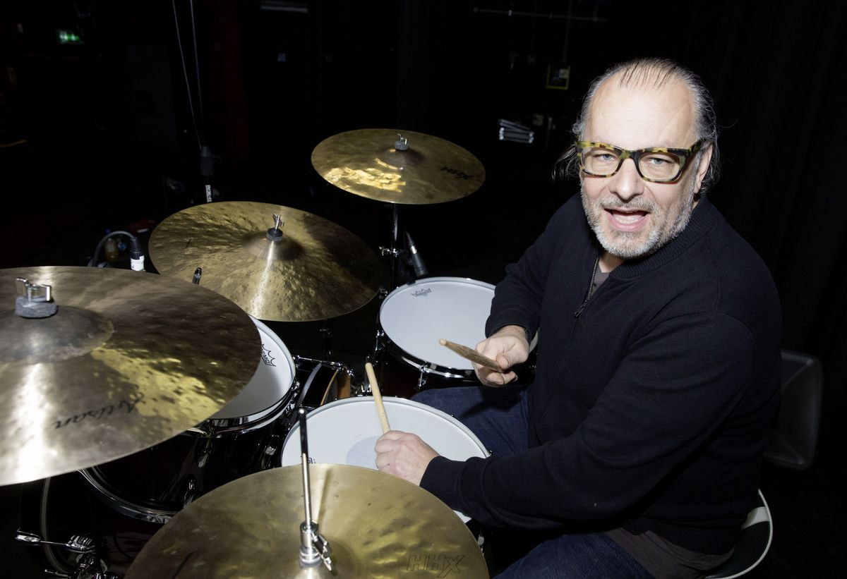 Ralph Salmins, who has worked with the likes of Aretha Franklin, Sir Elton John and Sir Paul McCartney held a drumming masterclass for Thirst Music School pupils. (Pictures by Adrian Miller, 26925125)