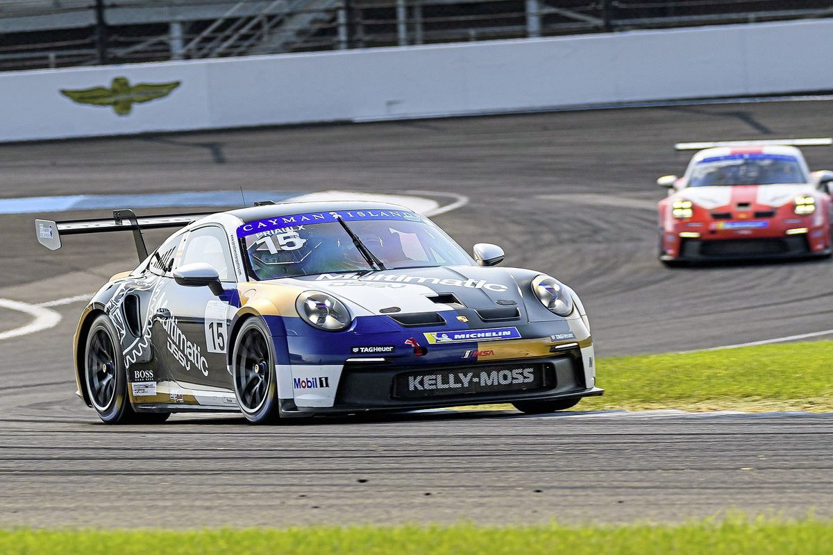 Seb Priaulx in the Porsche Carrera Cup North America meeting at Indianapolis Motor Speedway. (Picture from @Porsche, 29981465)