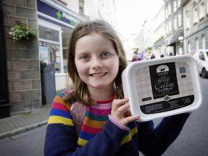 Pic by Adrian Miller 23-10-20 Vox Pop in Town on Guernsey Dairy Ice cream. Jemima Judge 9. (28832409)