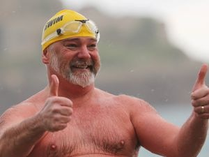 Adrian Sarchet has completed the ultimate long-distance sea swimming challenge, the Ocean's Seven. (Picture by Peter Frankland, 27326971)