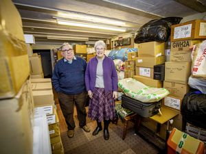 Wilf and Patricia Holland, who founded the Friends of Romania charity, are looking for a new storage space to keep their items before shipping away as they have to move from where they have been for nine years and have been unable to deliver goods for the past year due to Covid-19 travel restrictions and Brexit uncertainties. (Picture by Sophie Rabey, 29392759)