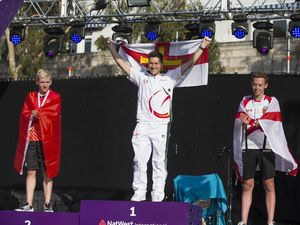 Guernsey's Josh Lewis won gold in the Gibraltar 2019 Island Games triathlon. (Picture by Peter Frankland, 28293169)