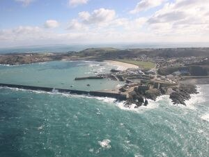 Aerial shot of Alderney breakwater (Picture by Adrian Miller, 28864231)