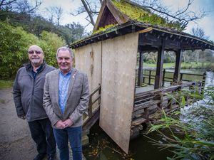 Picture by Sophie Rabey.  26-03-21.  The Rotary Club of Guernsey is taking on the job of building a new Japanese Pavilion at Saumarez Park after the current one has been closed for a while due to it being unfit for purpose.  L-R Dave Parish and Brian Acton.. (29610813)