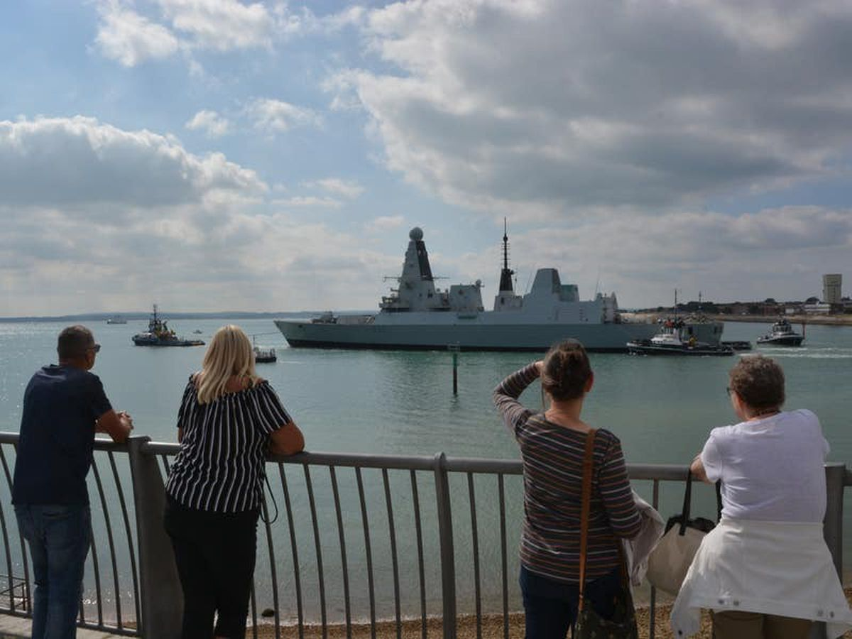 'State of the art' billion-pound warship towed from base for engine fit