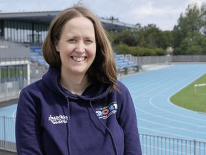 Games Director Julia Bowditch at Footes Lane yesterday, exactly a year before the opening of the week-long event.