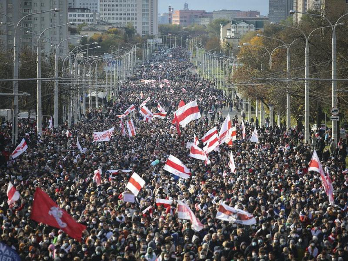 More than 50000 march in Belarus against authoritarian leader