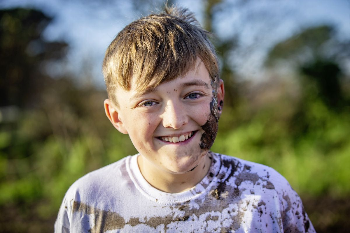 Picture by Sophie Rabey.  29-11-20. Muddy Cow Fun Run Vazon/Grande Mare. Oliver Granville (11) on his birthday. (28963034)