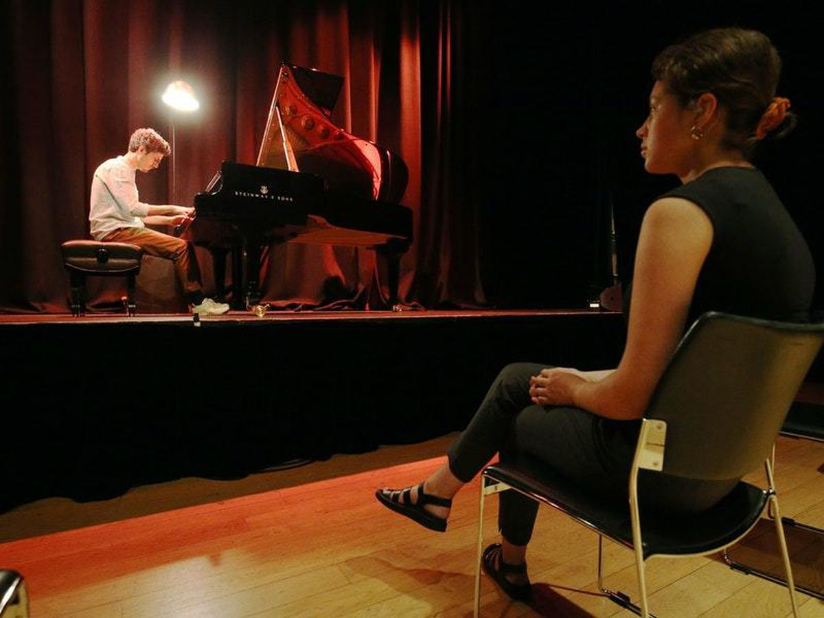 Musicians perform live – to an audience of one