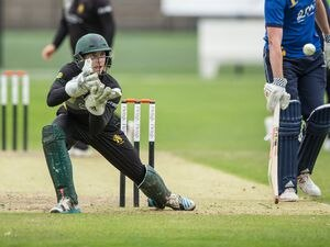 Wanderers v Griffins .PraxisIFM Channel Island League.Jason Martin.www.guernseysportphotography.com .Cricket at the KGV, 17-08-19. Picture by Martin Gray. (28316215)