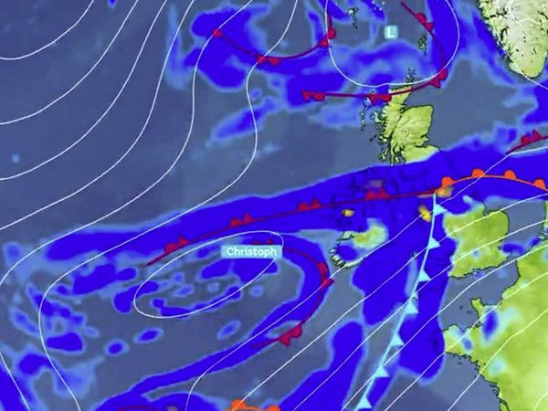 Storm Christoph has been named by the UK Met Office. Guernsey is forecast to be on the edge of the wet and windy weather. (29126982)