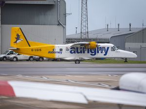Picture By Peter Frankland. 26-09-19 Generic Dornier pic..Aurigny's Dornier aircraft are having technical problems and some passengers are not able to travel back from Guernsey, or Southampton to Alderney. G-LGIS.Aurigny. (26905446)
