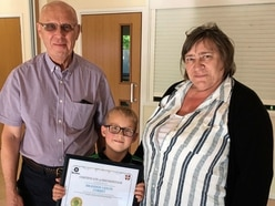 Brandon, 7, remembers his first aid when nan collapses
