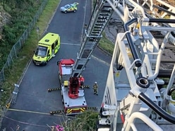 Turntable ladder used for Cow's Horn patient