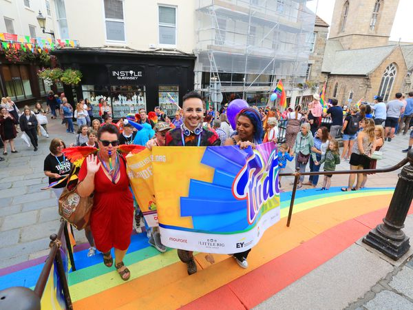 Channel Islands Pride 2020 parade in Town. (Picture by Adrian Miller, 29133323)