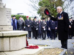 Picture By Peter Frankland. 11-11-20 Armistice Day service at the Fort George cemetery. Bob Place. (28900659)