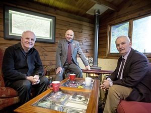 The three deputies who have set up the political alliance. Left to right: Peter Ferbrache, Carl Meerveld and Joe Mooney. (Picture by Peter Frankland, 20810323)
