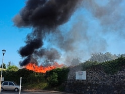 Fire fighters tackle shed blaze
