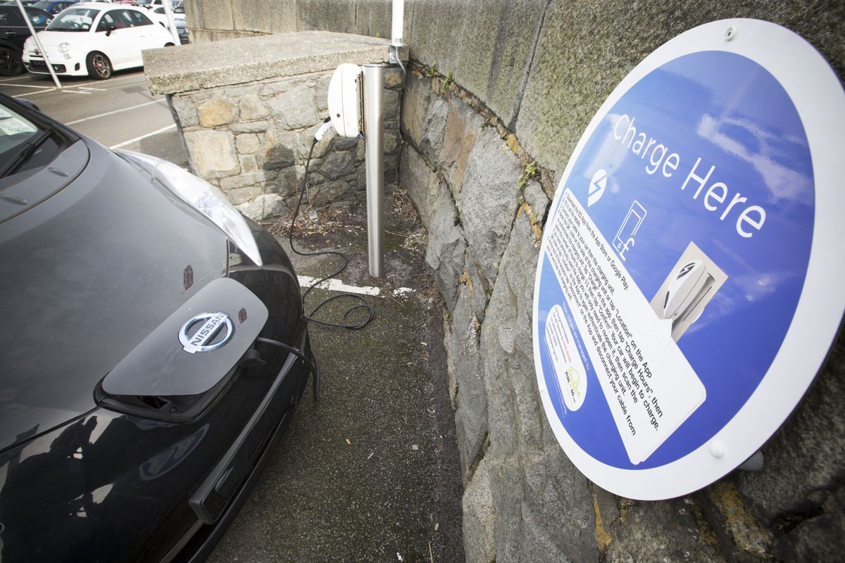Electric charging points at North Beach. (Picture by Adrian Miller, 28731453)