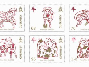Guernsey Post will release stamps on 26 January to celebrate the Year of the Ox, the eighth set in its Chinese New Year series, which begins on 12 February.