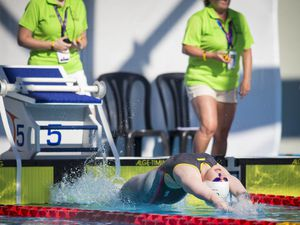 Picture By Peter Frankland. 09-07-19 Island Games 2019 Gibraltar. IG 2019. Swimming finals. Tatiana Tostevin.. (29111038)