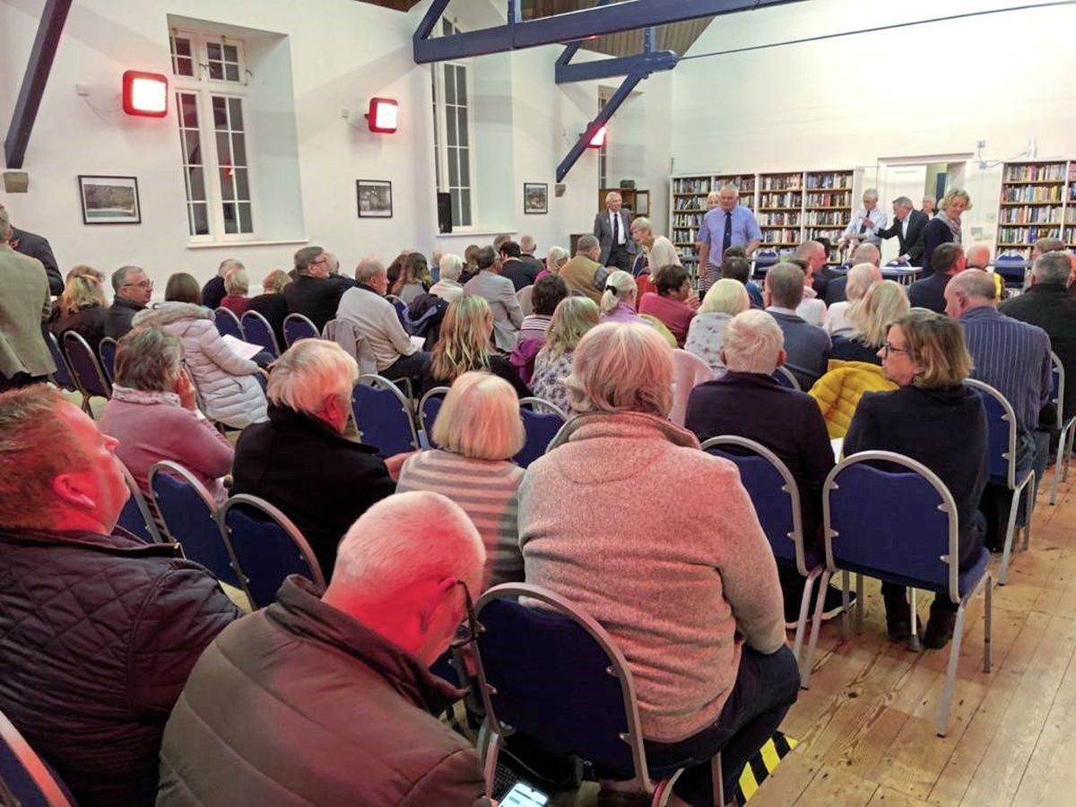 Parish meetings in St Martin's normally attract 20 people, but this year there was record turnout of 140 and a deferred election of douzeniers on 18 November. (Picture supplied by Dave Beausire)