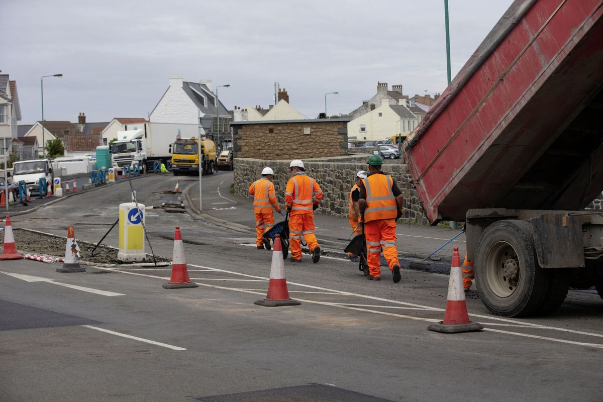 Les Banques roadworks started on 1 June and it is due to be finished by 25 June. (Picture by Cassidy Jones, 29669446)
