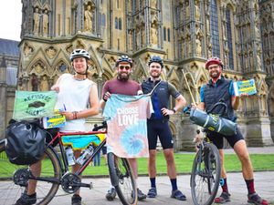 Cyclists break Guinness World Record in attempt to spell out Refugees Welcome