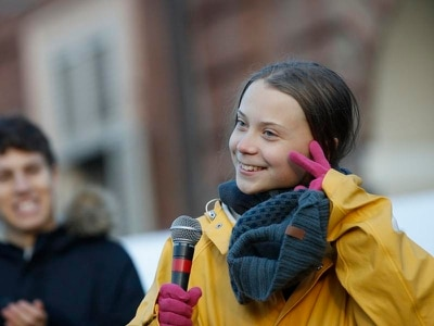Greta Thunberg apologises for 'against the wall' comment