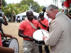 Charles drums up interest during Caribbean island visit
