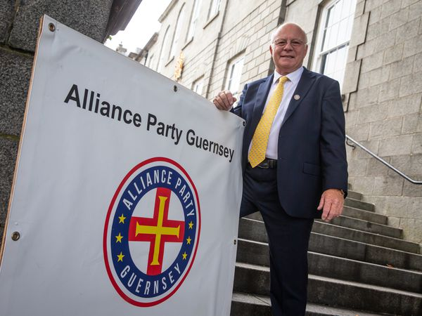 Picture By Peter Frankland. 22-08-20 Alliance Party Guernsey launch at The Royal Court. Barry Weir - chairman. (28814446)