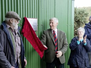 the official opening of Sark's new abattoir was performed by the Lt-Governor, Vice Admiral Sir Ian Corder. (Pictures supplied by Sue Daly)