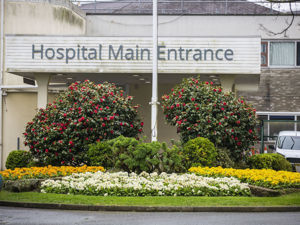 Picture by Sophie Rabey.  20-03-20.  Generic Building pictures of PEH - Princess Elizabeth Hospital.  GPweb.  Hospital Main Entrance.. (29154693)