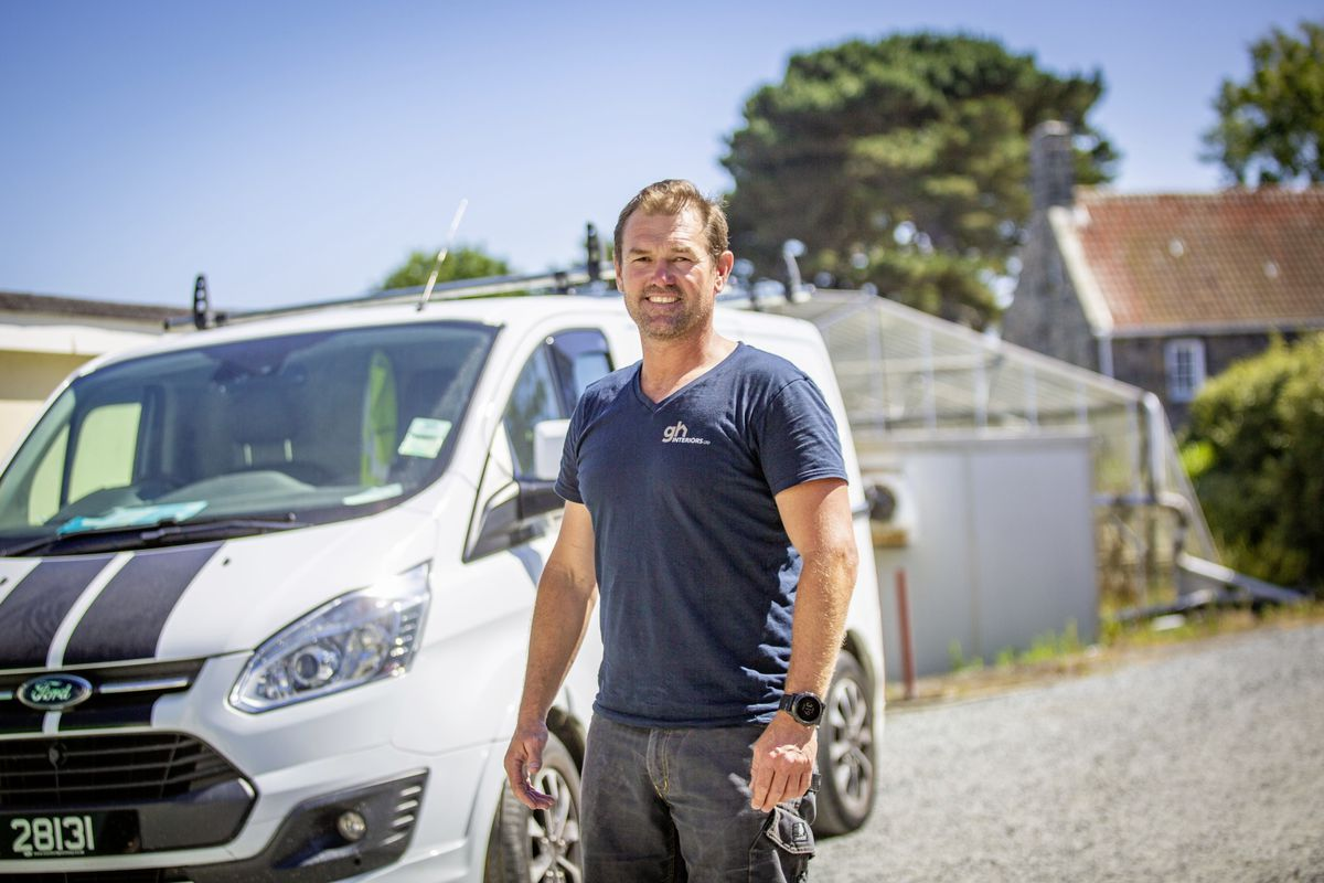 GH Smit, Director of GH Interiors, said local business owners are concerned with how difficult it is becoming to get staff to the island for work. Guest workers face having to leave the island if they are on the 9 month/3 month off arrangements, and there are added complications with Covid and Brexit. (Picture By Sophie Rabey, 29656470)