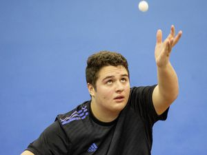 Picture by Sophie Rabey.  13-01-20.  Capelles Open Table Tennis action at GTTA Centre.  Ben Foss.. (26884721)