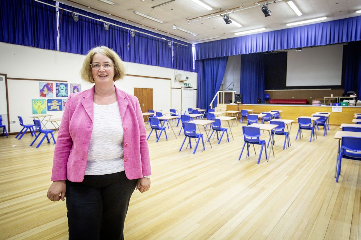 La Mare De Carteret High School headteacher Vicky Godley talks about how the school dealt with re-opening after lockdown. (Picture by Sophie Rabey, 28359394)