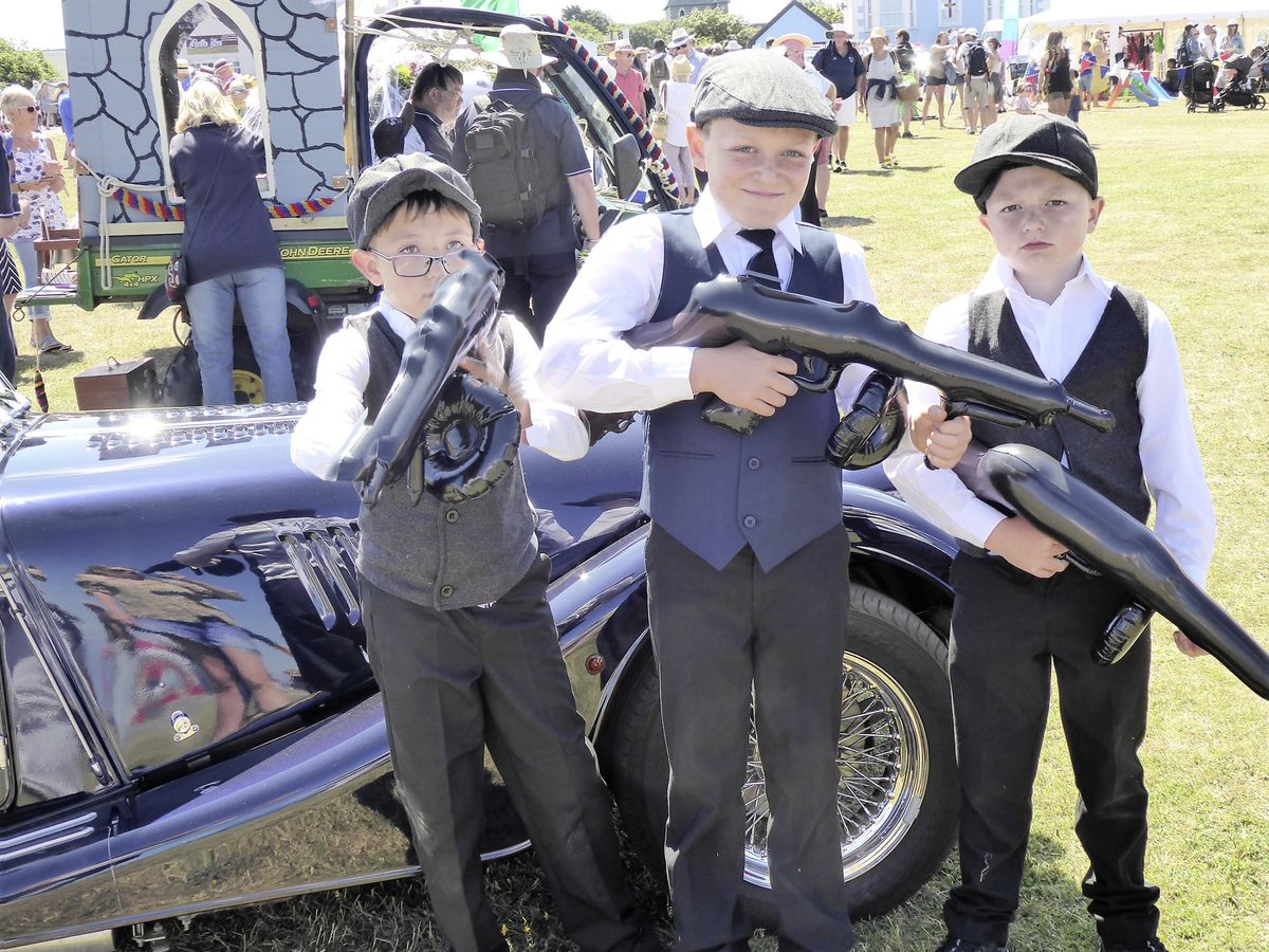 Youngsters getting involved with this year's roaring twenties themed Alderney Week (Picture by Ilone Soane-Sands)