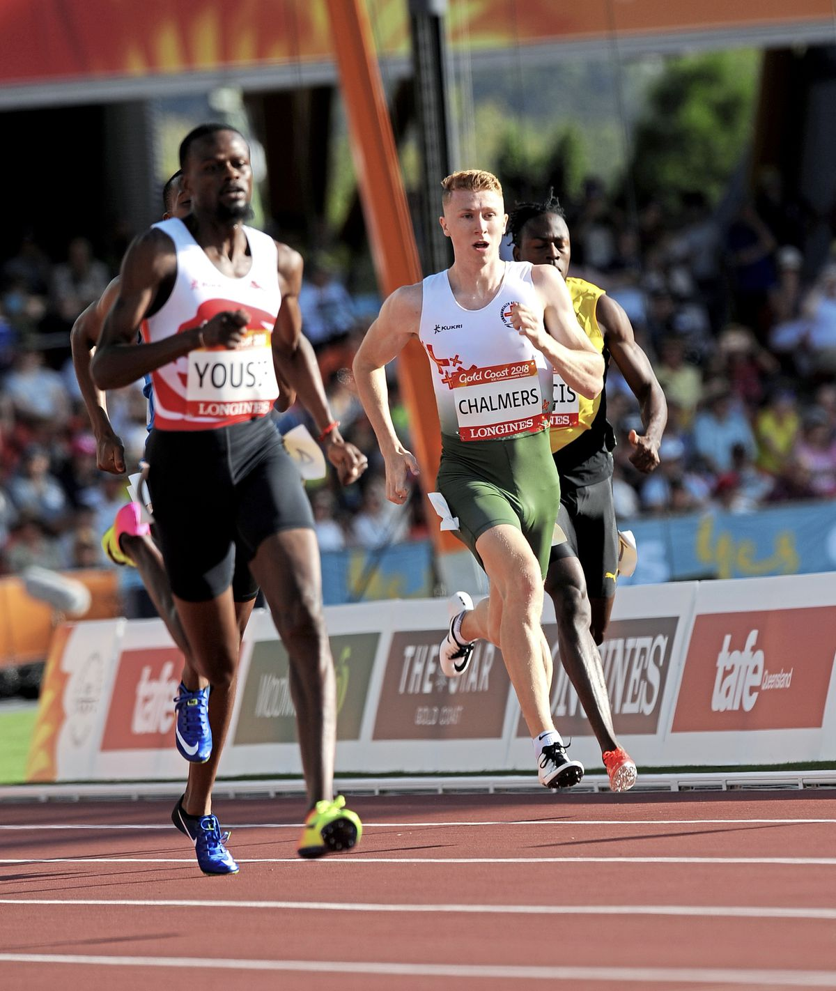 Elite performer: Cameron Chalmers runs the 400m at the 2018 Commonwealth Games. (28883149)